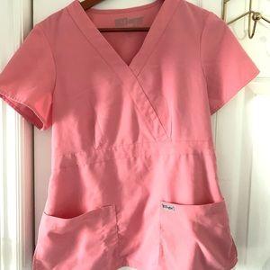 Pink Greys Anatomy Scrub Top Medium